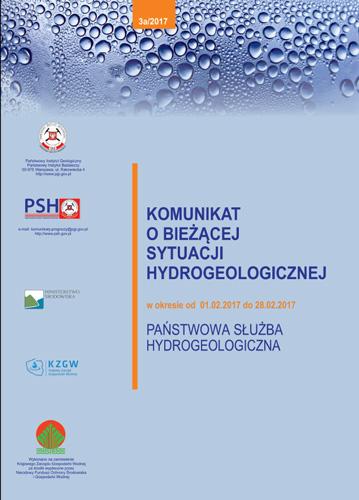 Komunikat o bieżącej sytuacji hydrogeologicznej w okresie 01.02.2017 - 28.02.2017