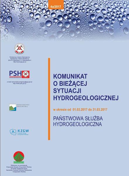 Komunikat o bieżącej sytuacji hydrogeologicznej w okresie 01.03.2017 - 31.03.2017