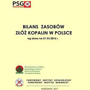 bilans zasobów złóż kopalin w Polsce 2016