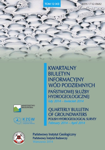Kwartalny Biuletyn Informacyjny Wód Podziemnych TOM 12(43) luty - kwiecień 2014