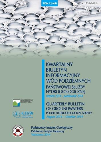 Kwartalny Biuletyn Informacyjny Wód Podziemnych TOM 12(45) sierpień - październik 2014