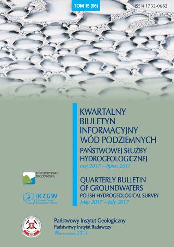 Kwartalny Biuletyn Informacyjny Wód Podziemnych TOM 15(56) maj 2017 - lipiec 2017