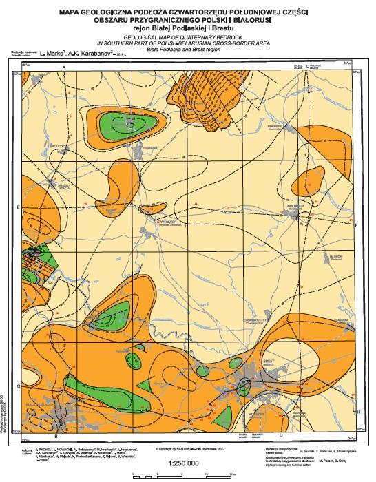 Zupełnie nowe Mapa geologiczna - mapą roku 2017 - Państwowy Instytut Geologiczny HU32