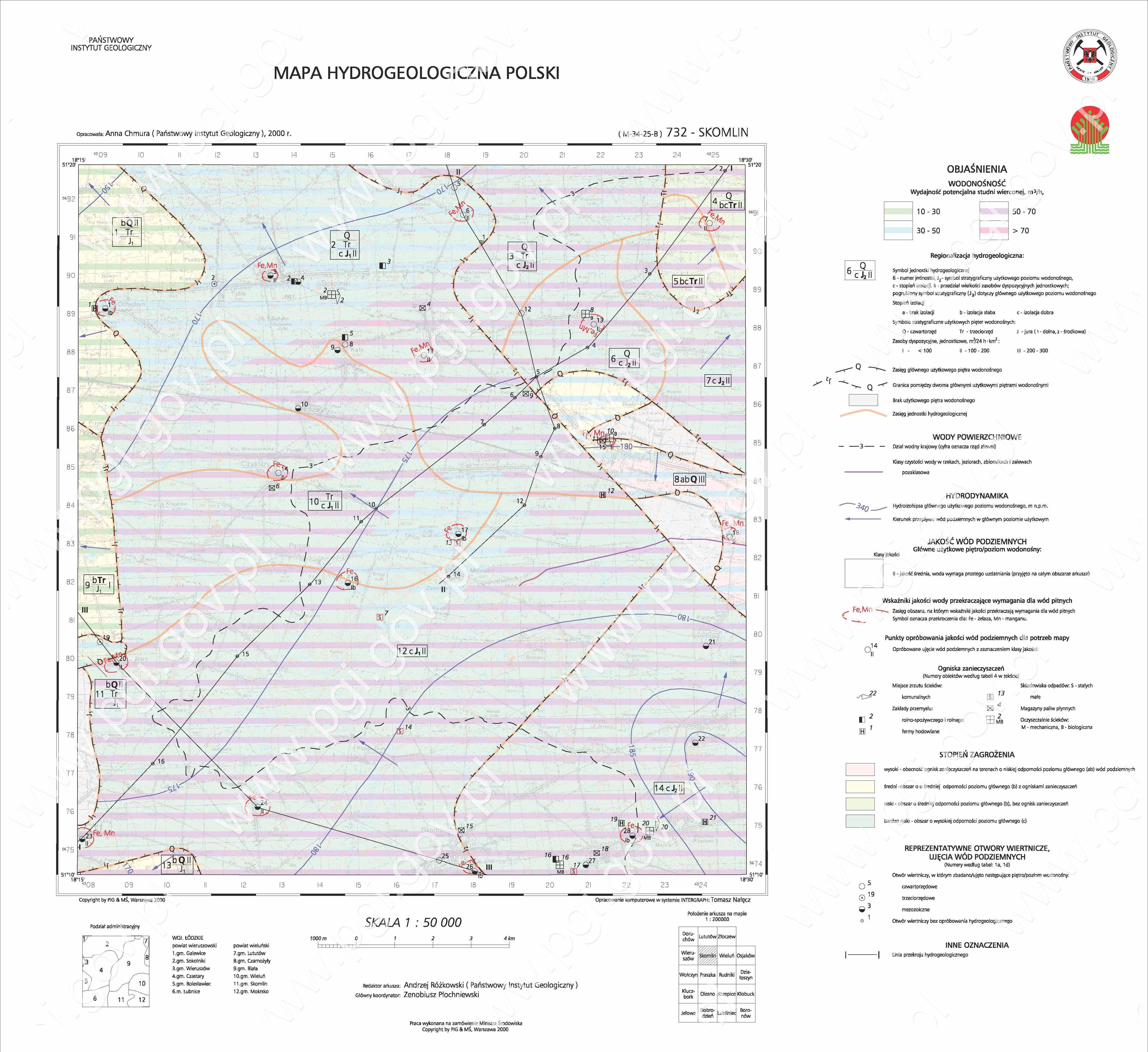 Kartografia Hydrogeologiczna Panstwowy Instytut Geologiczny Pib