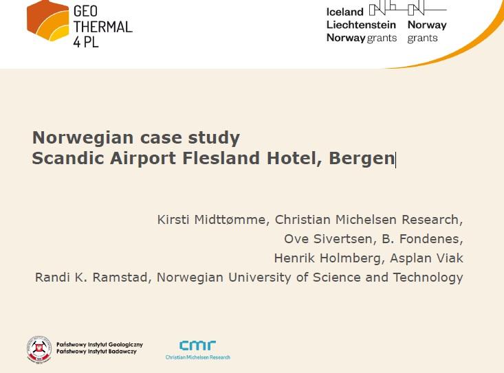 """Prezentacja z konferencji zamykającej projekt: """"Norwegian case study Scandic Airport Flesland Hotel, Bergen"""""""