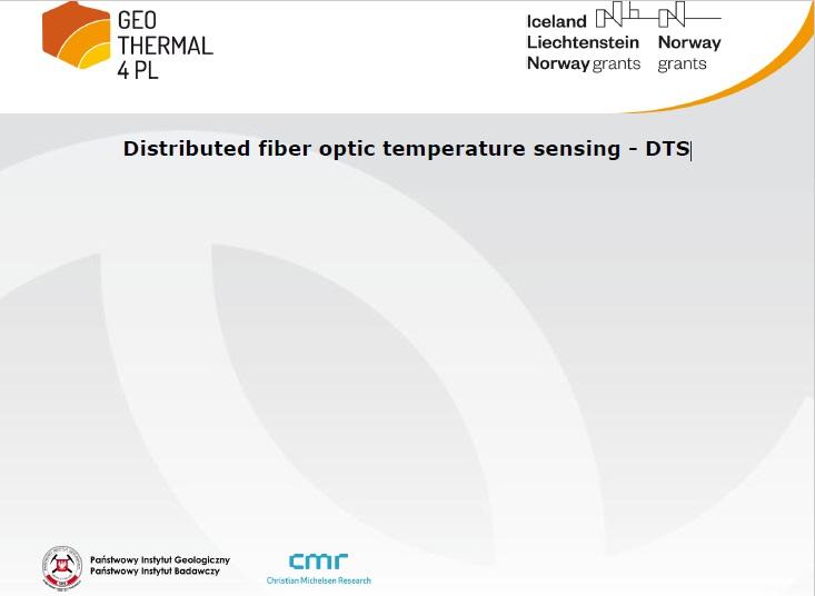 "Prezentacja z konferencji zamykającej projekt: ""Distributed fiber optic temperature sensing - DTS"""