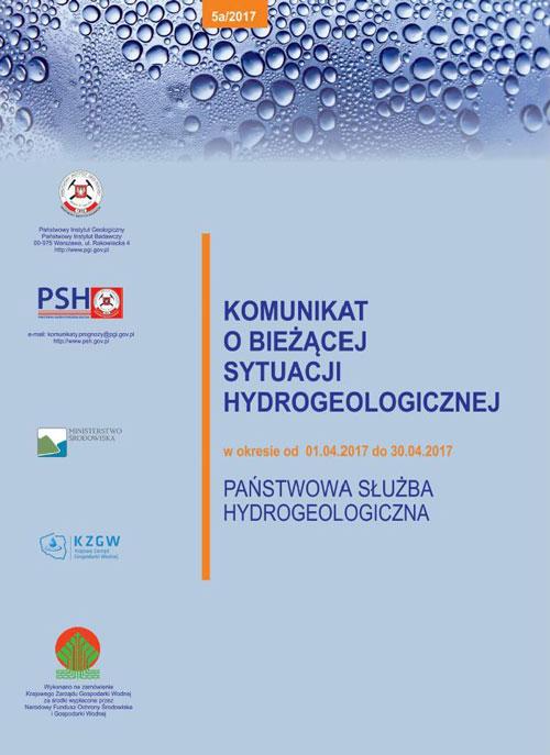 Komunikat o bieżącej sytuacji hydrogeologicznej w okresie 01.04.2017 - 30.04.2017