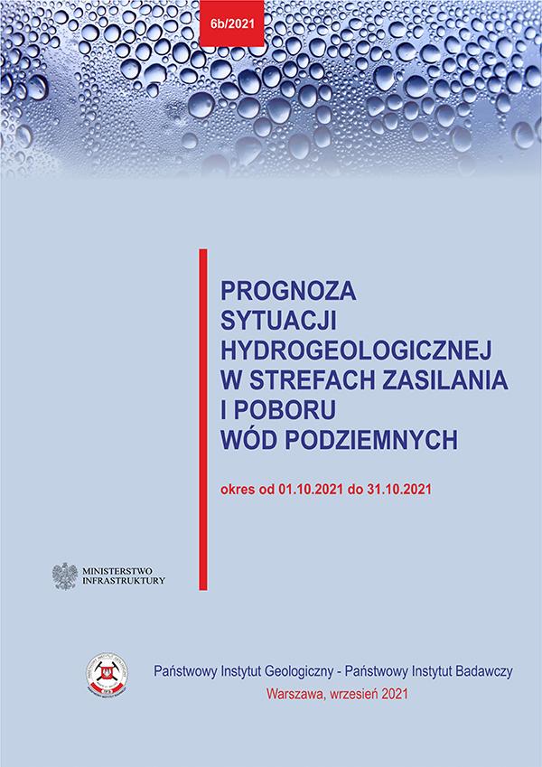 Prognoza sytuacji hydrogeologicznej w strefach zasilania i poboru wód podziemnych 1.10.2021 - 31.10.2021