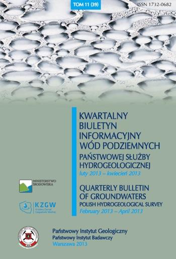 Kwartalny Biuletyn Informacyjny Wód Podziemnych TOM 11(39) luty - kwiecień 2013