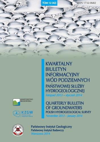 Kwartalny Biuletyn Informacyjny Wód Podziemnych TOM 12(42) listopad 2013 - styczeń 2014