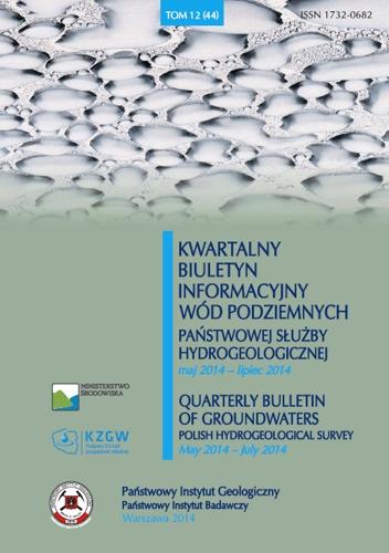 Kwartalny Biuletyn Informacyjny Wód Podziemnych TOM 12(44) maj - lipiec 2014