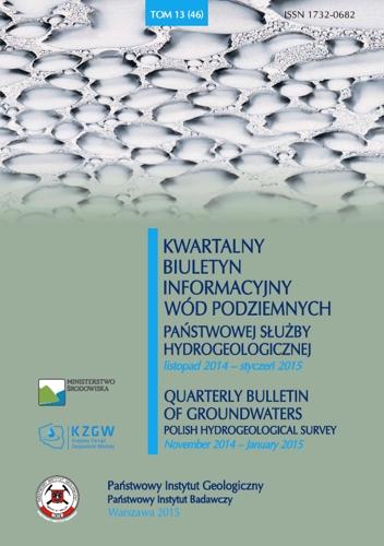 Kwartalny Biuletyn Informacyjny Wód Podziemnych TOM 13(46) listopad 2014 - styczeń 2015