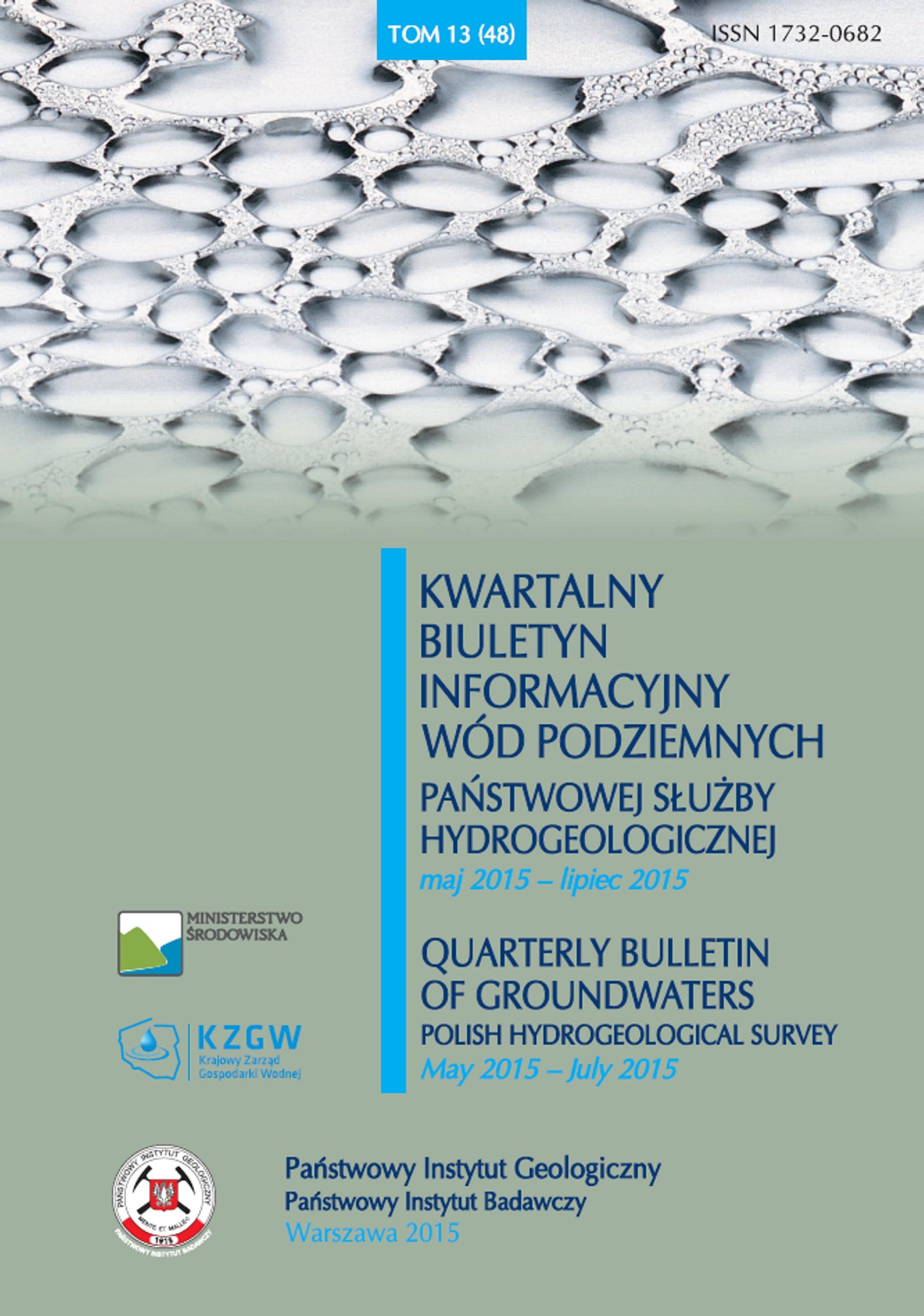 Kwartalny Biuletyn Informacyjny Wód Podziemnych TOM 13(48) maj - lipiec 2015