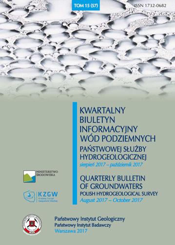 Kwartalny Biuletyn Informacyjny Wód Podziemnych TOM 15(57) sierpień 2017 - październik 2017