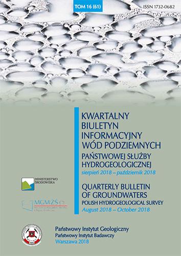 Kwartalny Biuletyn Informacyjny Wód Podziemnych TOM 16(61) sierpień 2018 - październik 2018