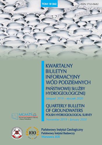 Kwartalny Biuletyn Informacyjny Wód Podziemnych TOM 18(66) listopad 2019 - styczeń 2020