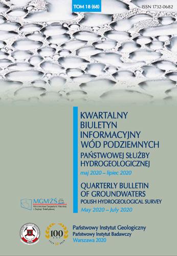 Kwartalny Biuletyn Informacyjny Wód Podziemnych TOM 18(68) maj 2020 - lipiec 2020
