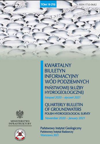 Kwartalny Biuletyn Informacyjny Wód Podziemnych TOM 19(70) listopad 2020 - styczeń 2021