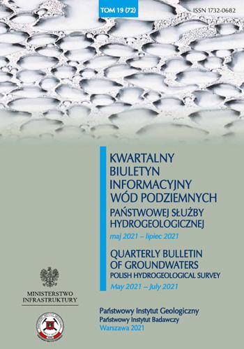 Kwartalny Biuletyn Informacyjny Wód Podziemnych TOM 19(72) maj 2021 - lipiec 2021