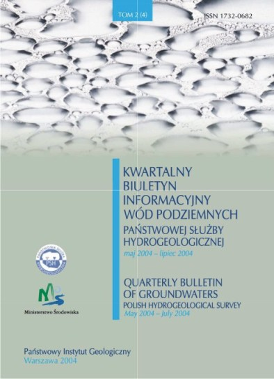 Kwartalny Biuletyn Informacyjny Wód Podziemnych TOM 2(4) maj - lipiec 2004