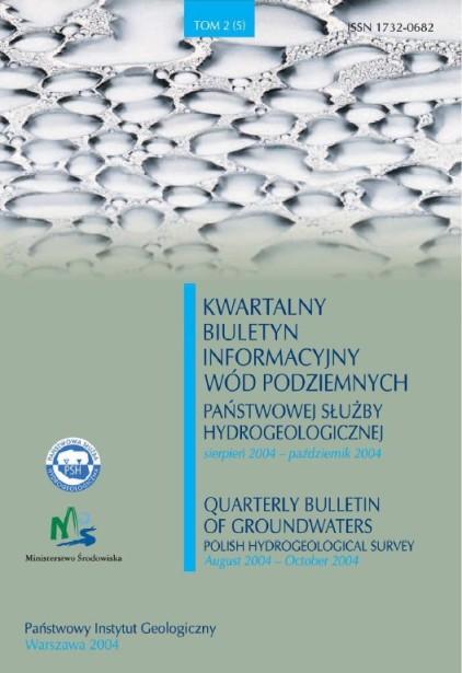 Kwartalny Biuletyn Informacyjny Wód Podziemnych TOM 2(5) sierpień - październik 2004