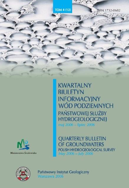 Kwartalny Biuletyn Informacyjny Wód Podziemnych TOM 4(12) maj - lipiec 2006
