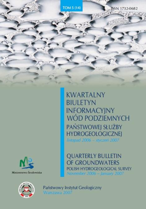 Kwartalny Biuletyn Informacyjny Wód Podziemnych TOM 5(14) listopad 2006 - styczeń 2007