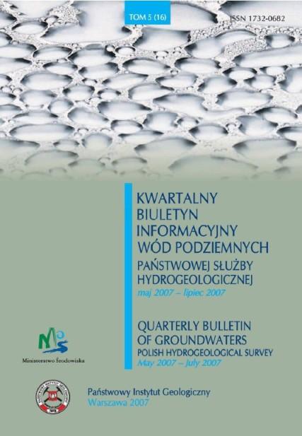 Kwartalny Biuletyn Informacyjny Wód Podziemnych TOM 5(16) maj - lipiec 2007