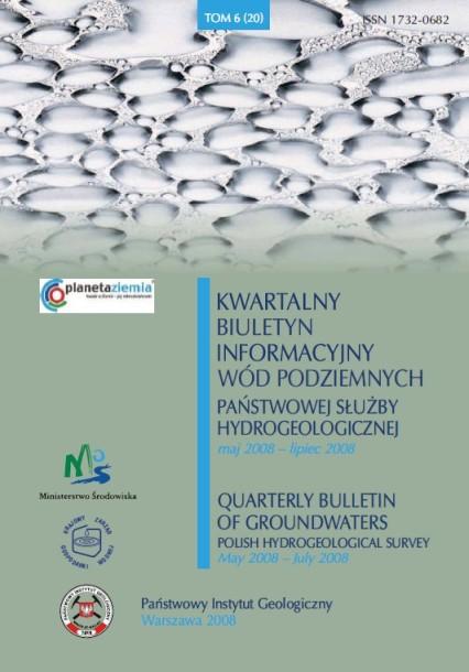 Kwartalny Biuletyn Informacyjny Wód Podziemnych TOM 6(20) maj - lipiec 2008