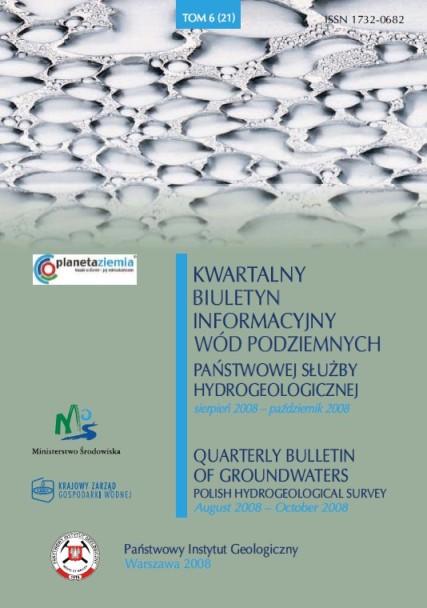 Kwartalny Biuletyn Informacyjny Wód Podziemnych TOM 6(21) sierpień - październik 2008