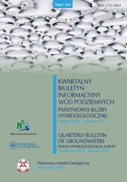 Kwartalny Biuletyn Informacyjny Wód Podziemnych TOM 7(22) listopad 2008 - styczeń 2009