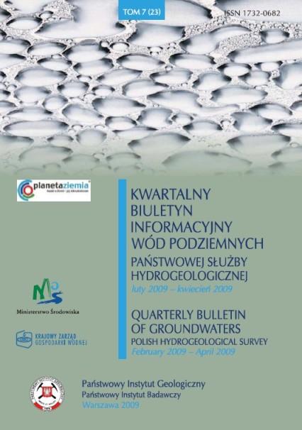 Kwartalny Biuletyn Informacyjny Wód Podziemnych TOM 7(23) luty - kwiecień 2009