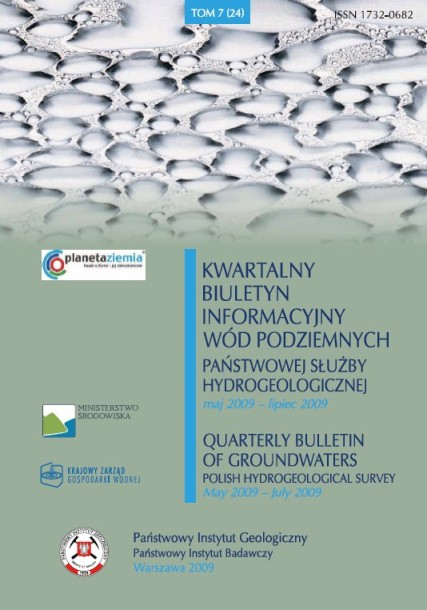 Kwartalny Biuletyn Informacyjny Wód Podziemnych TOM 7(24) maj - lipiec 2009