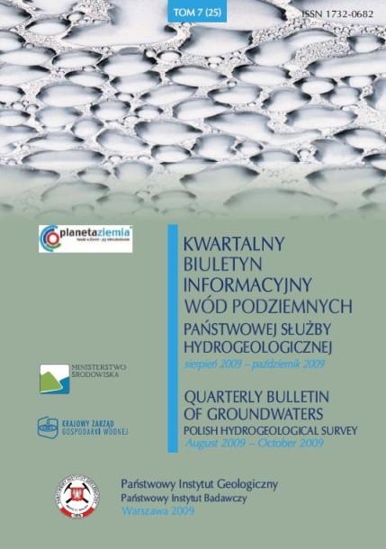 Kwartalny Biuletyn Informacyjny Wód Podziemnych TOM 7(25) sierpień - październik 2009