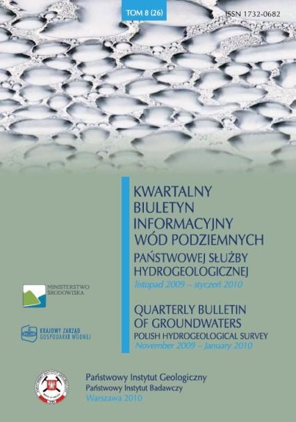 Kwartalny Biuletyn Informacyjny Wód Podziemnych TOM 8(26) listopad 2009 - styczeń 2010
