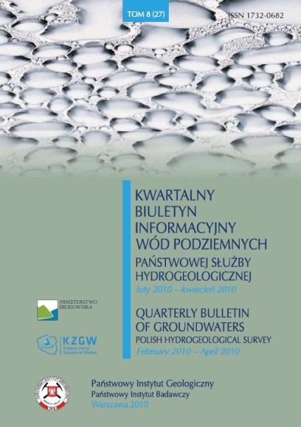 Kwartalny Biuletyn Informacyjny Wód Podziemnych TOM 8(27) luty - kwiecień 2010
