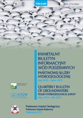 Kwartalny Biuletyn Informacyjny Wód Podziemnych TOM 8(28) maj - lipiec 2010