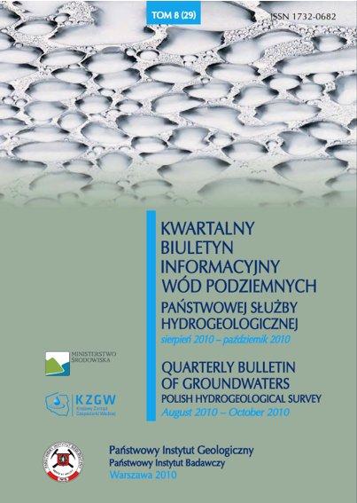 Kwartalny Biuletyn Informacyjny Wód Podziemnych TOM 8(29) sierpień - październik 2010