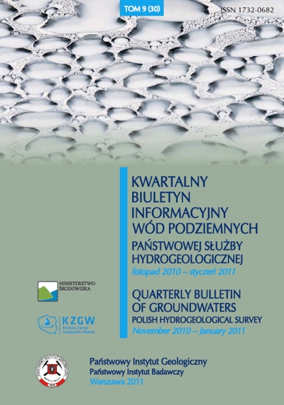 Kwartalny Biuletyn Informacyjny Wód Podziemnych TOM 9(30) listopad 2010 - styczeń 2011