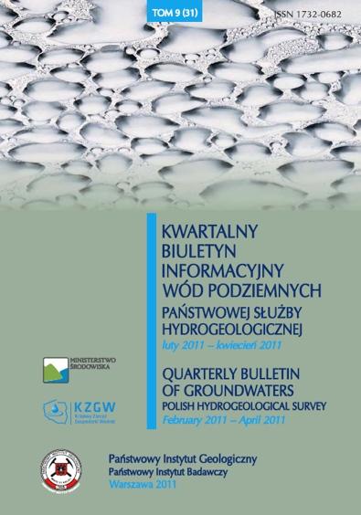 Kwartalny Biuletyn Informacyjny Wód Podziemnych TOM 9(31) luty 2011 - kwiecień 2011
