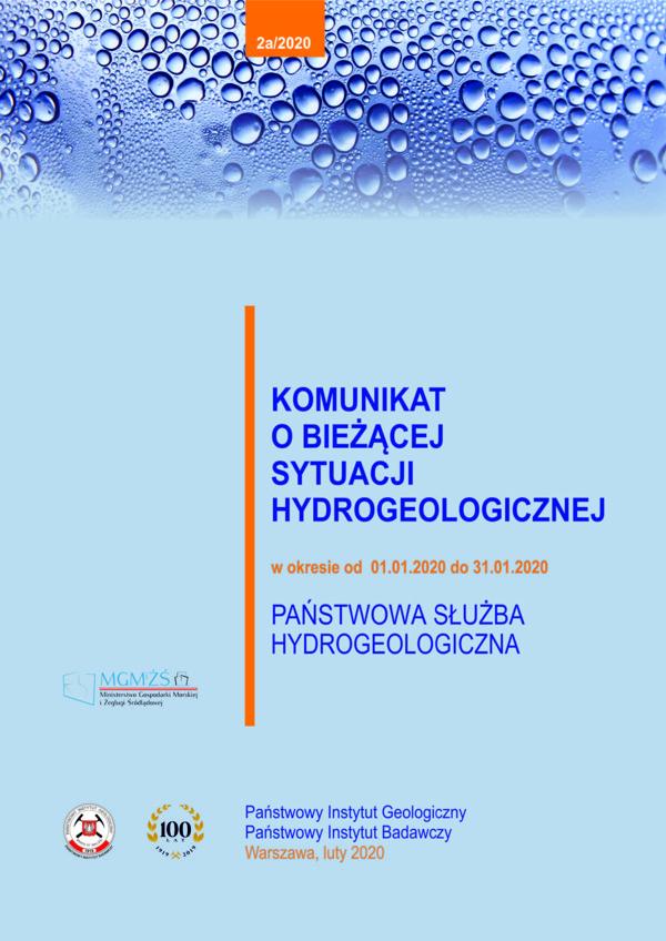 Komunikat o bieżącej sytuacji hydrogeologicznej w okresie od 01.01.2020 do 31.01.2020