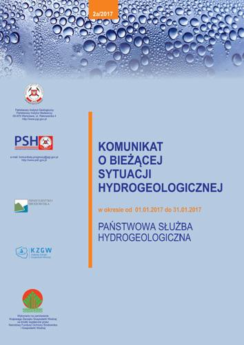 Komunikat o bieżącej sytuacji hydrogeologicznej w okresie 01.01.2017 - 31.01.2017