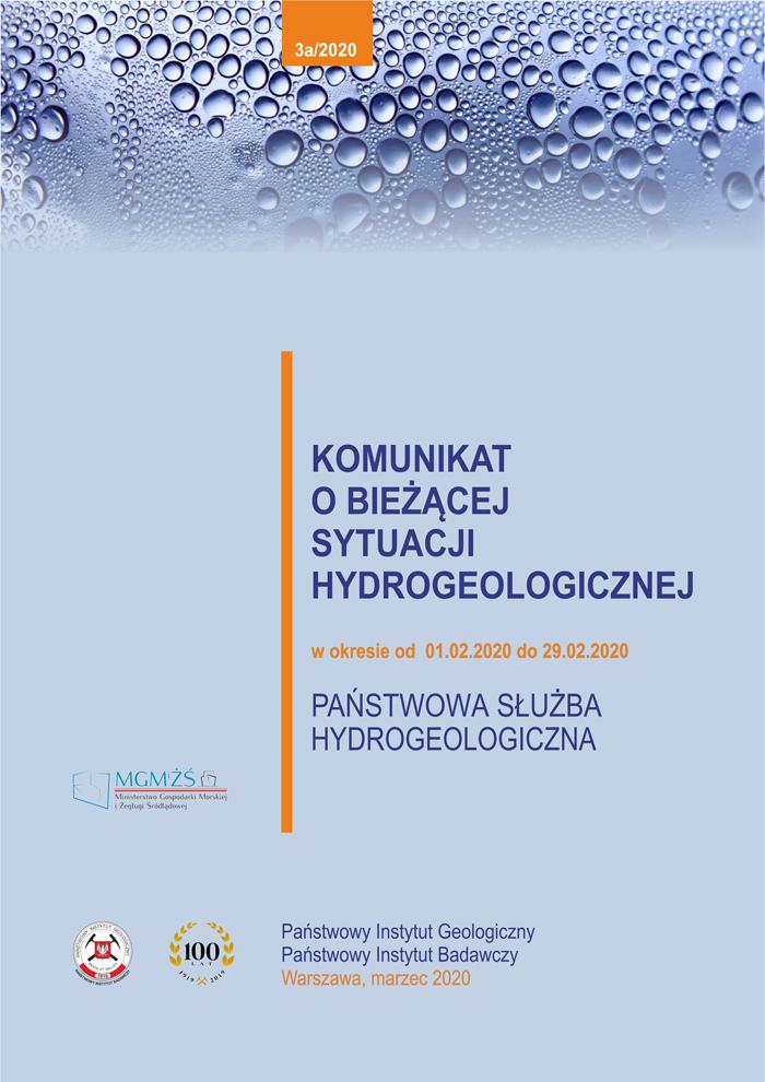 Komunikat o bieżącej sytuacji hydrogeologicznej w okresie od 01.02.2020 do 29.02.2020