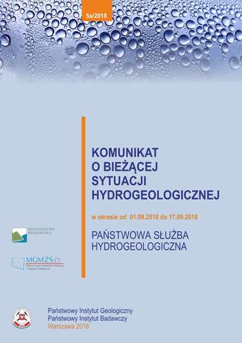 Komunikat o bieżącej sytuacji hydrogeologicznej w okresie 01.09.2018 - 17.09.2018