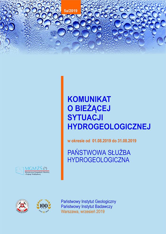 Komunikat o bieżącej sytuacji hydrogeologicznej w okresie od 01.08.2019 do 31.08.2019
