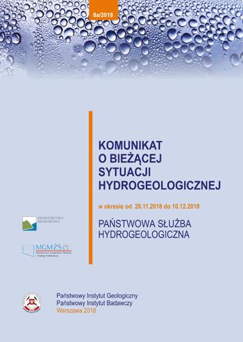 Komunikat o bieżącej sytuacji hydrogeologicznej w okresie 20.11.2018 do 10.12.2018 r.