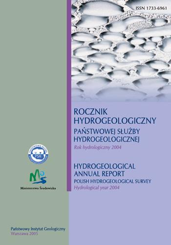 Rocznik hydrogeologiczny Państwowej Służby Hydrogeologicznej 2004