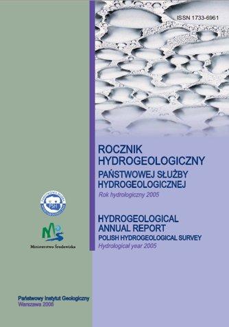Rocznik hydrogeologiczny  Państwowej Służby Hydrogeologicznej 2005
