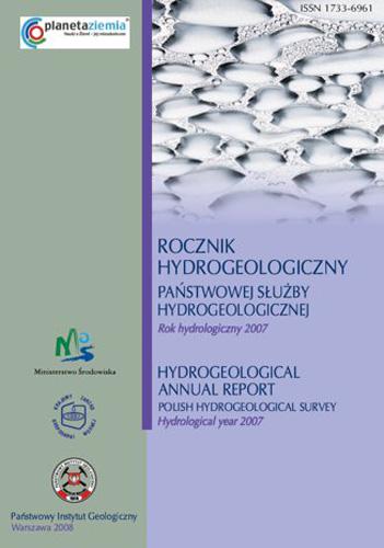 Rocznik hydrogeologiczny Państwowej Służby Hydrogeologicznej 2007