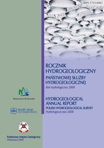 Rocznik hydrogeologiczny Państwowej Służby Hydrogeologicznej 2008